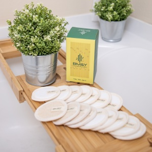 Bamboo Pads in the Bathroom